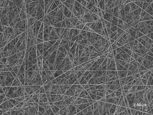 マルチジェットスピナレットによるPANの電界紡糸