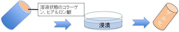 コラーゲン・ヒアルロン酸紡糸の研究